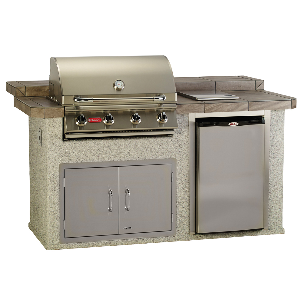 Kitchen Island With Raised Bar: Bull Power-Q Raised Bar In Stucco Or Rock Outdoor BBQ