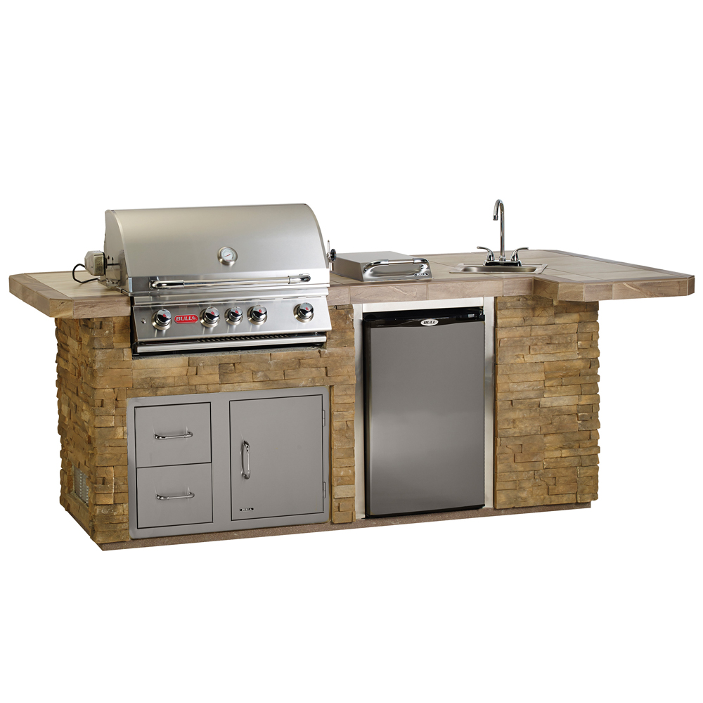 Bull BBQ In Stucco Or Rock Outdoor BBQ Kitchen Island