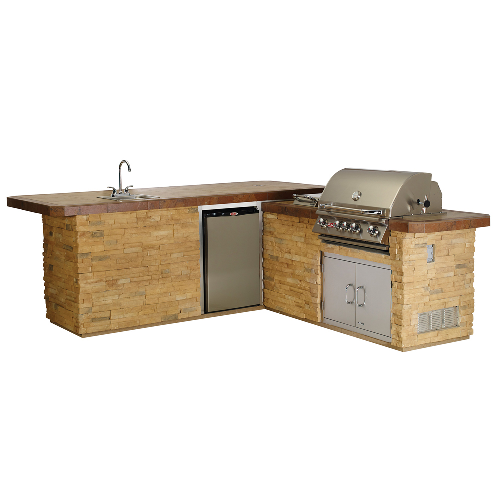 Bull Gourmet-Q In Stucco Or Rock Outdoor BBQ Kitchen Island