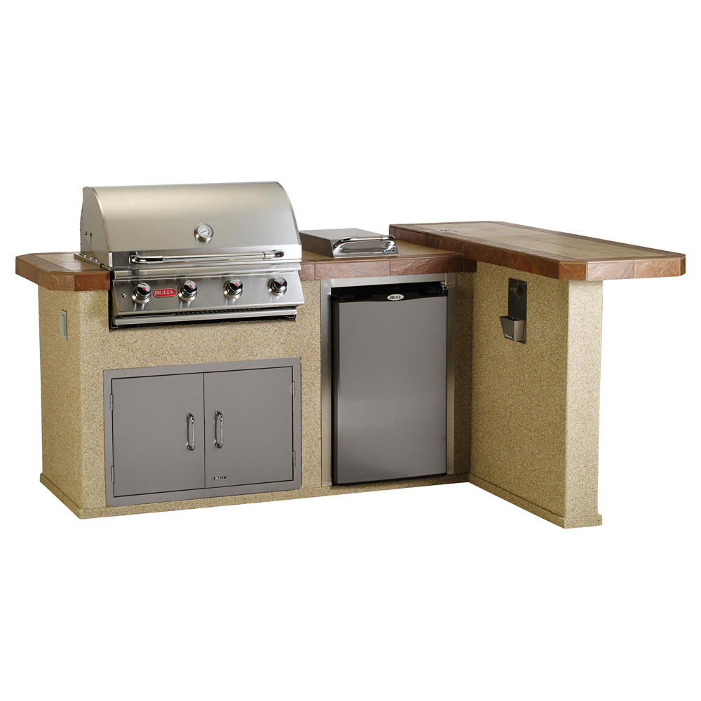 Bull Luxury-Q In Stucco Or Rock Outdoor BBQ Kitchen Island