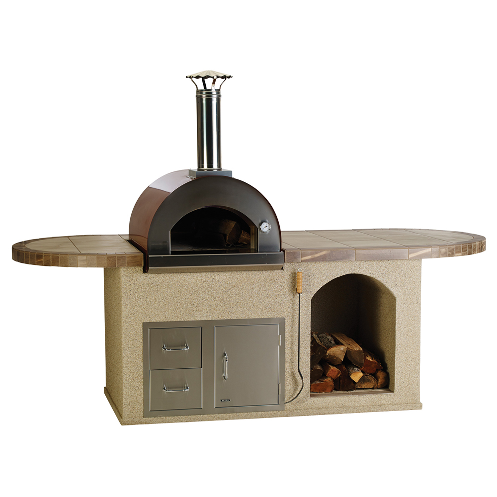 Bull Pizza Q Island Stucco or Rock Outdoor BBQ Kitchen Island. Save