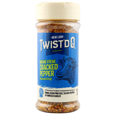 Twist'd Q Insane Steak Cracked Pepper Seasoning