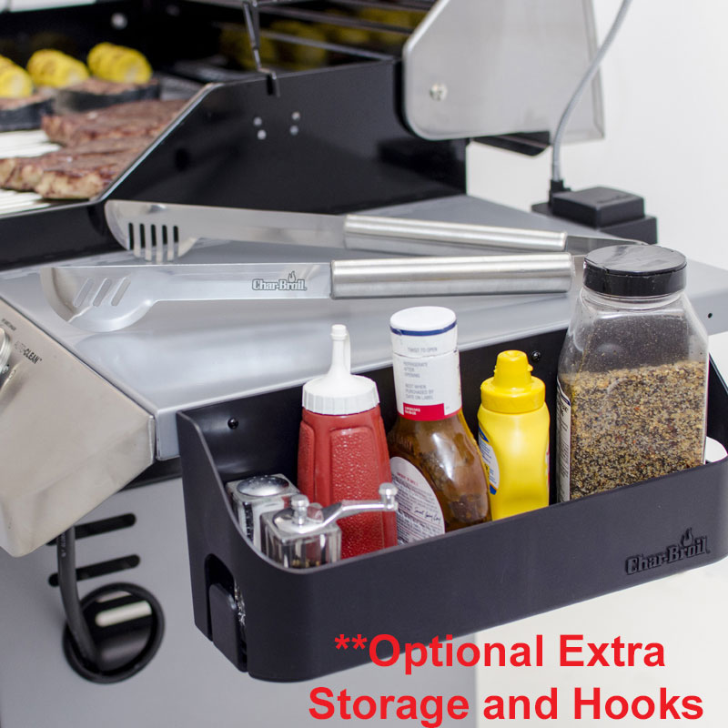 Char-Broil Gear Trax Combo Kit Grilling Space Hook Bar Condiment Basket